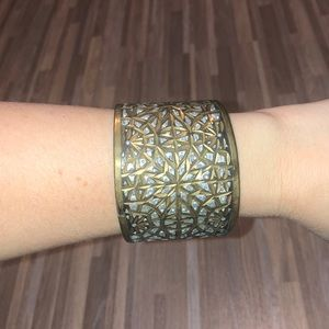 Free people gold and silver thick cuff